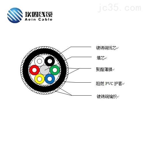 上海厂家埃因称重信号传感器电缆PRVZP-1-LF