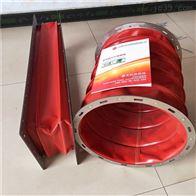 圆形红色硅胶布耐高温软连接厂家供应