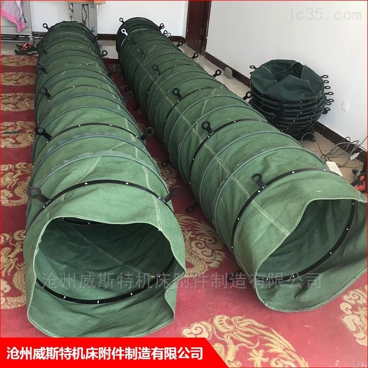 加厚水泥帆布输送布袋伸缩式