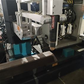 八轴方管相贯线切割机展示